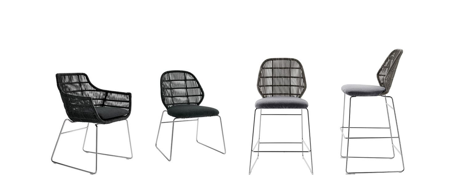 Squarcina b b italia outdoor crinoline squarcina for Sedie design furniture e commerce