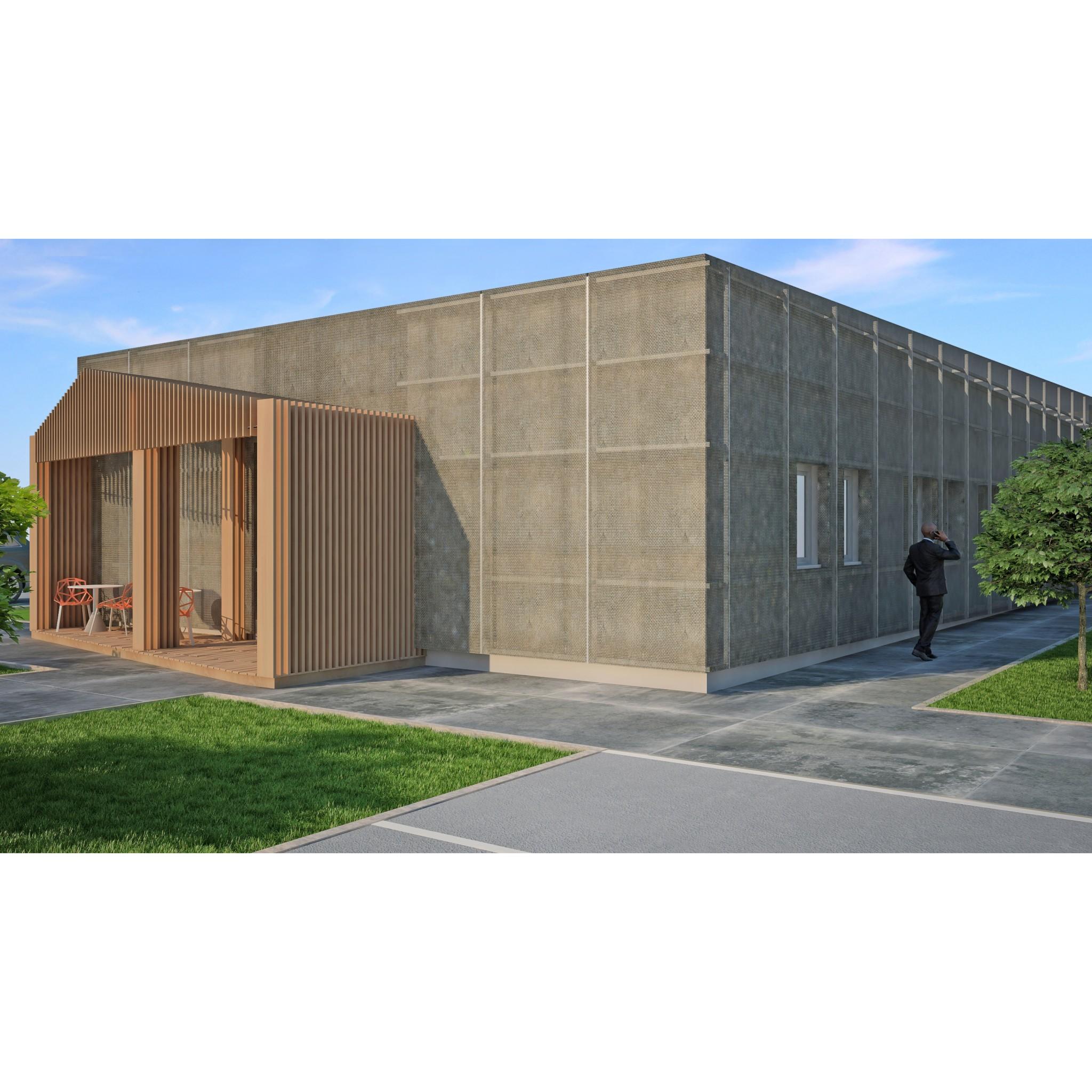 Squarcina restyling di un capannone industriale squarcina for Capannone moderno