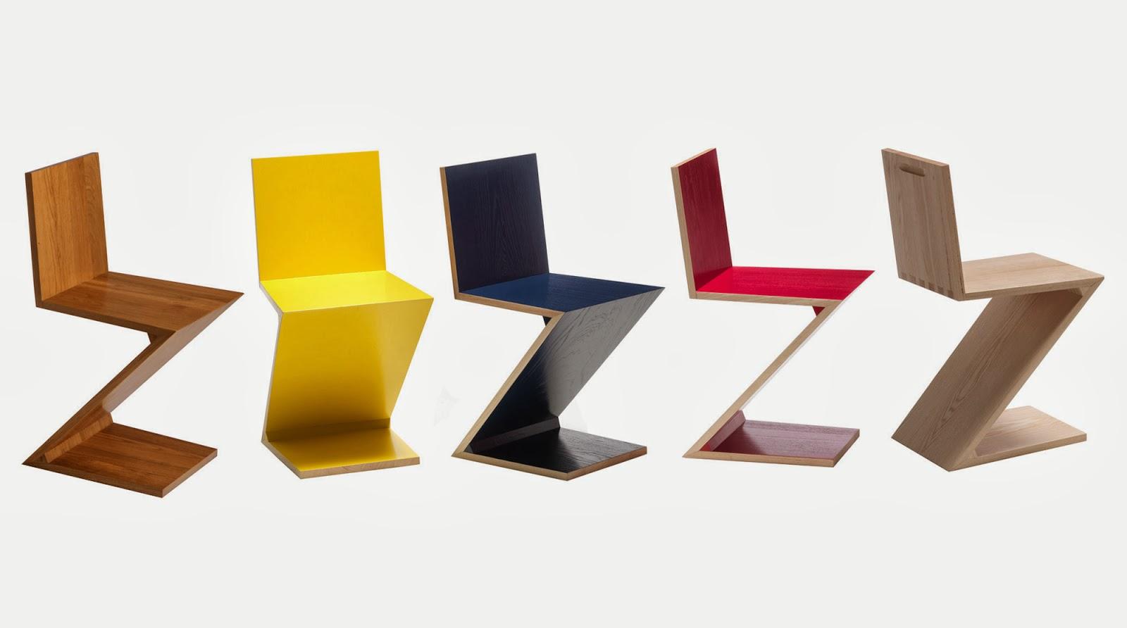 Squarcina Matrix20 Zig Zag Chair Gerrit Thomas Rietveld